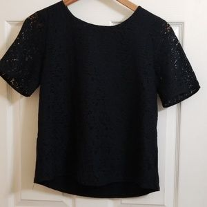 Gibson Zip Back Lace Top